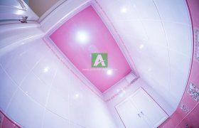 Натяжной потолок в ванной 5 кв.м