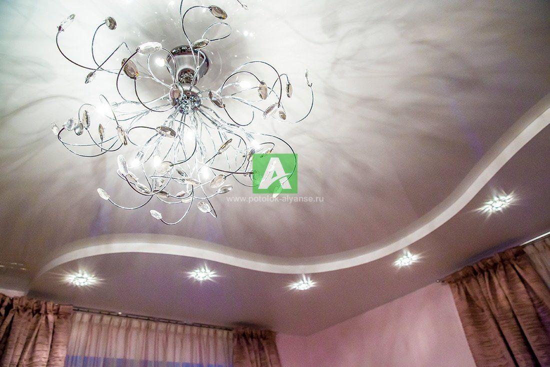 Матовые натяжные потолки фото